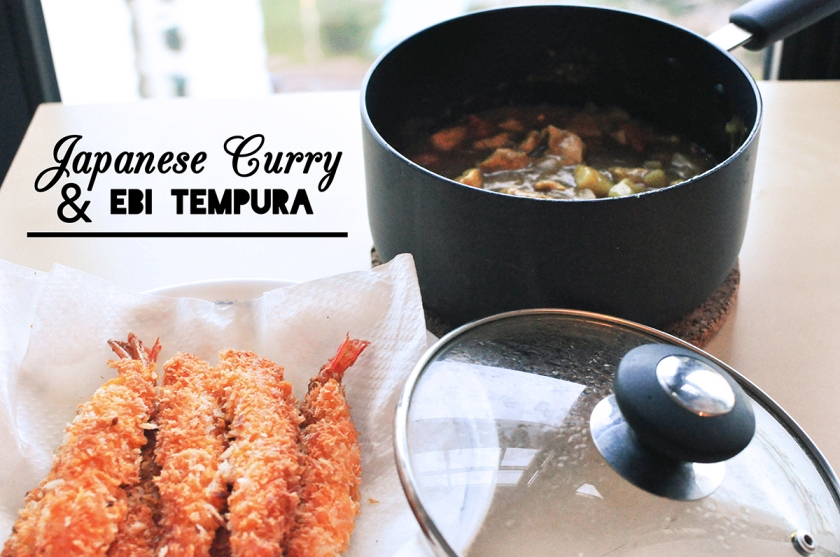 jap curry and ebi tempura