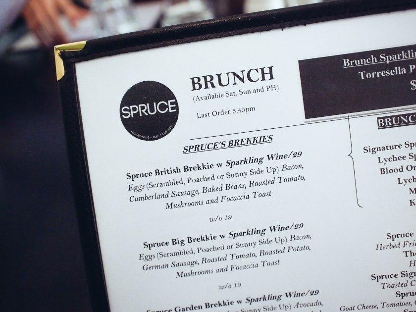 spruce menu