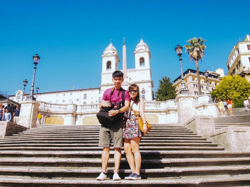 us on spanish steps