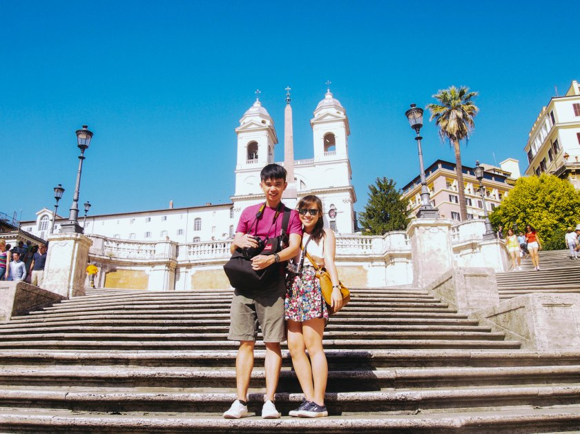 us on spanish steps