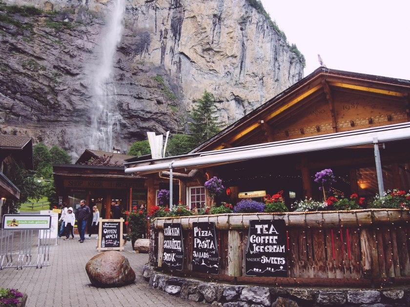restaurant and falls