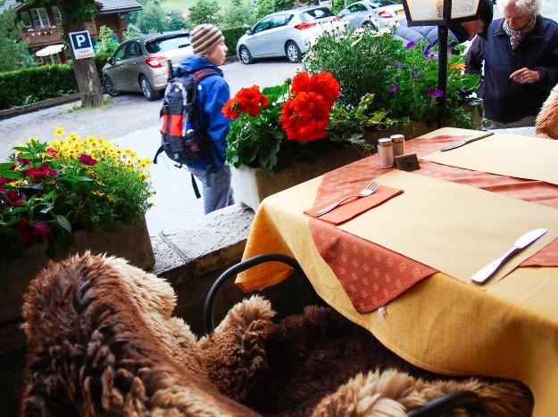 dinner at hotel oberland