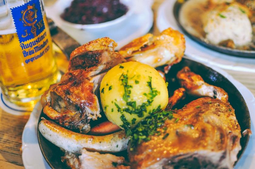 german meat platter