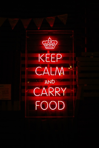 keep calm and carry food