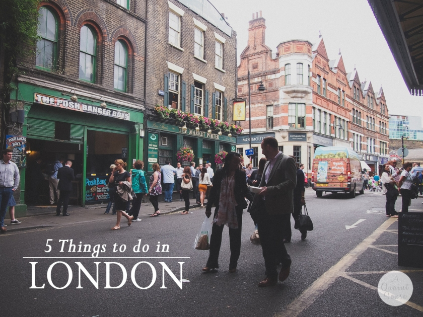 5 things to do in London
